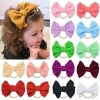 Baby Toddler Girls Kids Bunny Big Bow Knot Turban Headband Hair Band Headwrap