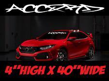 Honda Accord Graffiti Windshield decal turbo sticker jdm ivtec sport race custom