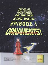 Hallmark Star Wars Episode 1 Ornaments Magazine Advert #3261