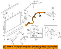 NEW OEM 2013-2015 Ford Fusion 1.6L Radiator Overflow Container Connector Hose