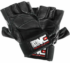 Monsta Clothing Leather Wrist Wrap Workout Gloves for Better Weight Lifting