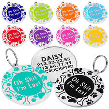 Dog Tag Personalized Custom Engraved Dog Tags Pet Name Tags for Dogs Puppy S L