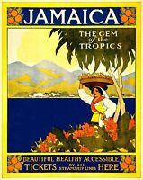 Travel Jamaica Retro Metal Wall Plaque Art Vintage Advertising tin Sign