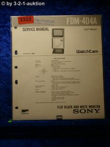 Sony Service Manual Shimano 404A Flat Black And White Monitor (#3322)