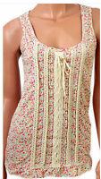 New Evie Ladies Ditsy Print Floral Summer Vest Top-Sizes 6,8,10,12,14,16,18 & 20