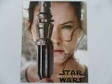 Daisy Ridley - trilogy 8x10 Photograph Signed Autographed Free Shipping