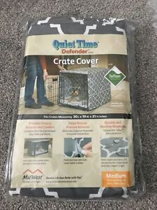 Midwest Quiet Time Defender Series Stylish Grey Crate Cover for Dogs, 30L x 19W