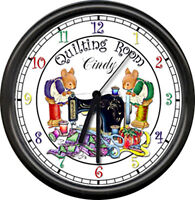 Personalized Crafting Makes Me Happy Sewing Quilting Room Art Sign Wall Clock