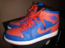 2013 AIR JORDAN RETRO 1 I HIGH OG ORANGE/GAME ROYAL KNICKS  SZ 9 II IV V XI 3