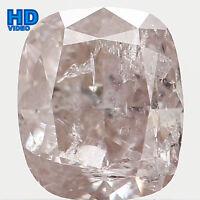 0.52 Ct Natural Loose Diamond Cushion Brown Faint Pink I2 4.70X4.00X3.00MM L2824