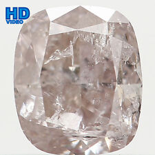 Natural Loose Diamond Cushion I2 Clarity Brown Faint Pink Color 0.52 Ct L4269