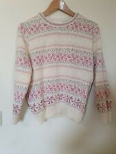 True Vintage Dorothy Perkins Floral Bow Knitted Jumper Top Size 10