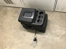 2015-18 Tahoe Sierra Jump Seat Center Console Silverado Black Full Black Leather