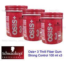 Schwarzkopf Osis 3 Thrill Fibre Gum Strong Control Clay Wax 100ml X 2