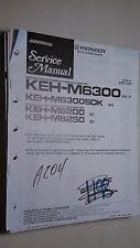 New listing Pioneer keh-m6300 sdk m6200 m6250 service manual original repair book stereo