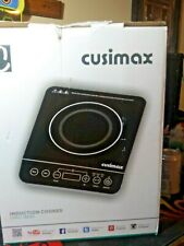 CUSIMAX Induction Cooktop 1800W Portable Induction Burner with Timer, Sensor