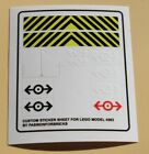 Aufkleber passend für LEGO 4563 Sticker Train Load N' Haul Railroad  Precut