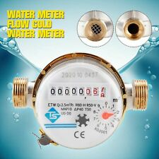 """Digital Display 3/4"""" Thread Cold Water Meter Easy Install For Garden And Home"""