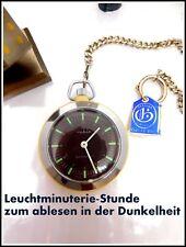 RUHLA Taschenuhr  M 24 Leuchtminuterie Handaufzug mit GABLONA Uhrkette Oldtimer