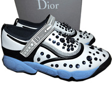 $1150 Christian Dior Fusion Sneakers Neoprene Sequines Crystals Flat Shoes 41