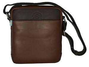 Borsa Borsello Tracolla Uomo Donna Marrone La Martina Bag Small Body Bag Mode...