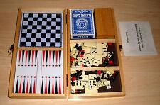 Colección de juegos-juegos de mesa-ajedrez dama backgammon... completamente-zuklappbar