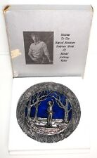 Michael Ricker Pewter Plate In Box - New England Christmas 1980 - 3 1/4lb 8 1/2""