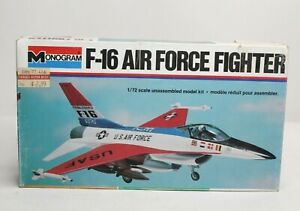 Monogram F-16 Air Force Fighter 1/72 Scale Plastic Model Kit 5200 READ NOTES