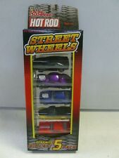1998 Racing Champions Hot Rod Street Wheels 5 gift pack (black truck with gold