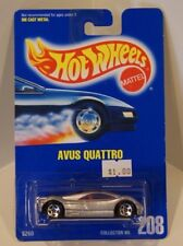 Avus Quattro Audi Hot Wheels 1991 Blue Card #208 Silver 5sp