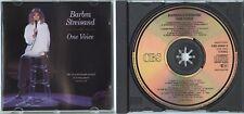 BARBRA STREISAND One Voice Live 1987 CD w NEU MINT rare 1pr. BARRY GIBB BEE GEES