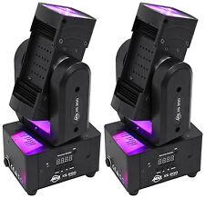(2) American DJ ADJ XS 200 RGBW LED Rotating FX Moving Head Effect Lights XS200
