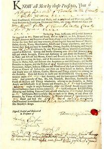 1727 Mass Bay Colony> RARE PRINTED FORM POWER OF ATT FOR THOMAS RICHMOND TAUNTON