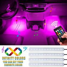 LED Strip Light 4Pc 48 Multi-color Car Interior Light with Sound Active Function