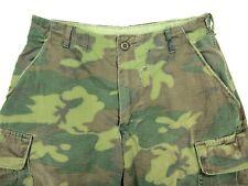 Vtg Vietnam US Army USMC Tropical Camo Ripstop ERDL pants SMALL SHORT 27 28 29