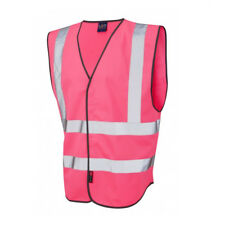 LEO WORKWEAR Warnweste Single Colour Reflective Waistcoat PILTON pink G. S NEU