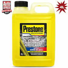 Prestone Screen Wash Extreme Performance Concentrated All Seasons 2x2L=4 Litre
