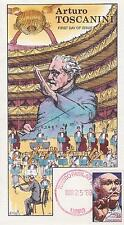 COLLINS HAND-PAINTED FDC FIRST DAY COVER 1989 ARTURO TOSCANINI - FAMOUS PEOPLE