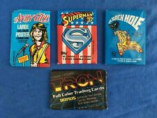 Vintage TRON Black Hole Superman Movie Trading Cards Andy Gibb Sealed Wax Packs