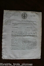 ✒ mai 1798 Circulaire signée sur les CARTES à jouer - autographe régicides
