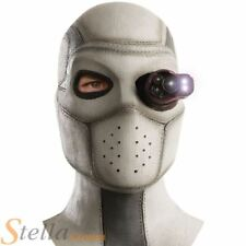 Official Deadshot Latex Mask With Light Up Eye Suicide Squad Fancy Dress
