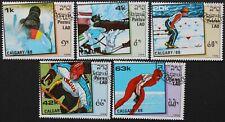 """Laos: Michel-Nr. 1060-1064 """"Olympische Winterspiele´88"""" aus 1988, gestempelt"""