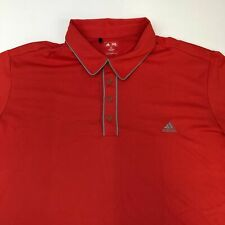 Adidas Polo Shirt Men's Size 2XL XXL Short Sleeve Coral Casual Golf Polyester