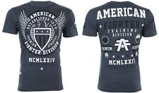 American Fighter Mens S/S T-Shirt Believe Athletic Navy Blue Biker S-3Xl $40