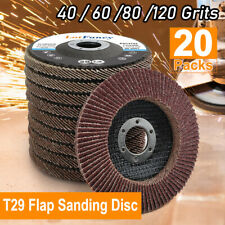 20Pcs 40 60 80 120 Grit Assorted Sanding Grinding Wheels 4.5 Inch Flap Discs T29