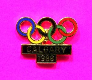1988 OLYMPIC PIN CALGARY OLYMPIC RINGS PIN NOC PIN