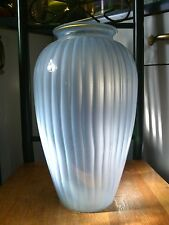 "LARGE ANTIQUE Powder BLUE GLASS 14"" VASE - URN - PLANTER - CACHEPOT - Jardiniere"