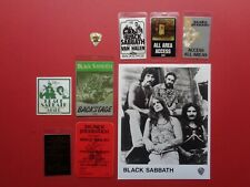 Black Sabbath,Ozzy,Original B/W promo photo, 7 Backstage passes,Guitar pick