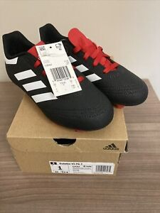 adidas Kids Goletto VI FG Black/Red G26367 Soccer US Size 1.5 New With Box