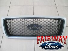 05 thru 08 F-150 OEM Genuine Ford Honeycomb with Paintable Surround Grill Grille